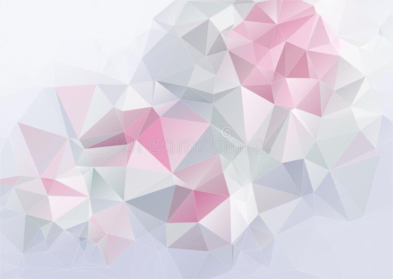 Fundo abstrato claro do triange ilustração stock