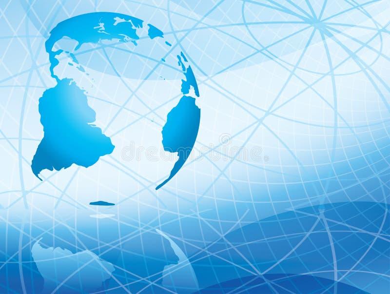 Fundo abstrato claro do vetor com continentes ilustração stock