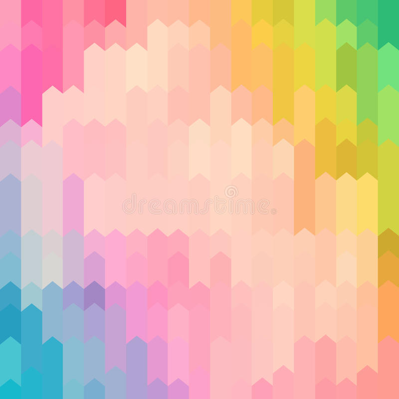 Fundo abstrato colorido cor pastel do teste padrão da seta ilustração stock