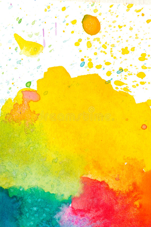 Fundo abstrato colorido da aguarela ilustração royalty free