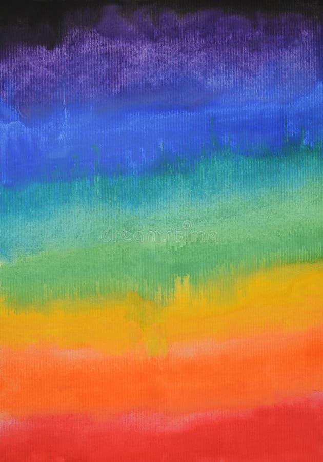 Fundo abstrato colorido da aguarela Mão desenhada wallpaper ilustração do vetor
