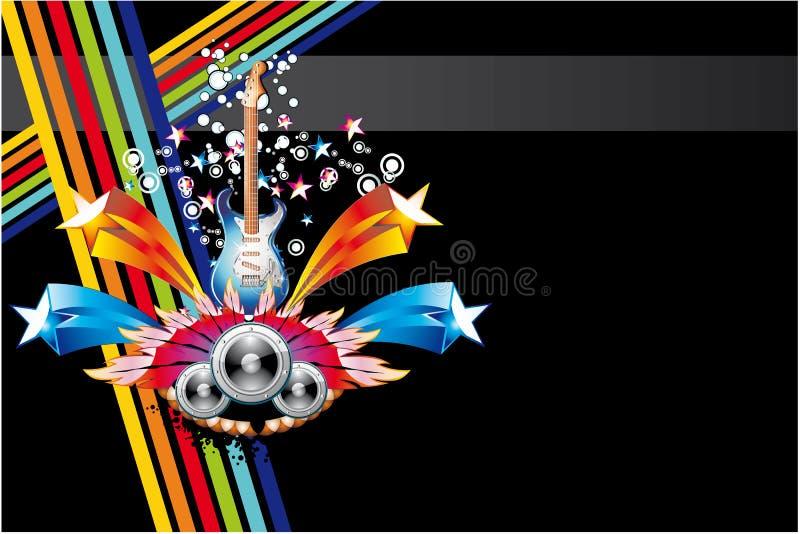 Fundo abstrato colorido da música ilustração stock