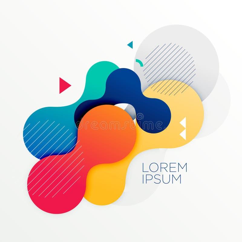 Fundo abstrato colorido das formas redondas ilustração stock