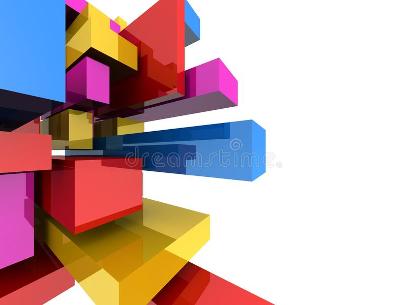 Fundo abstrato colorido do bloco quadrado ilustração do vetor