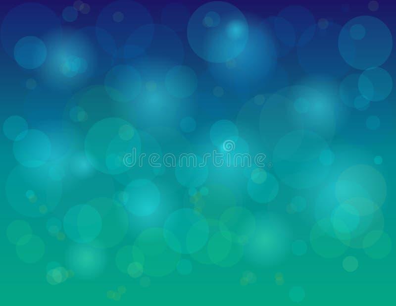 Fundo abstrato colorido do círculo do verde azul foto de stock