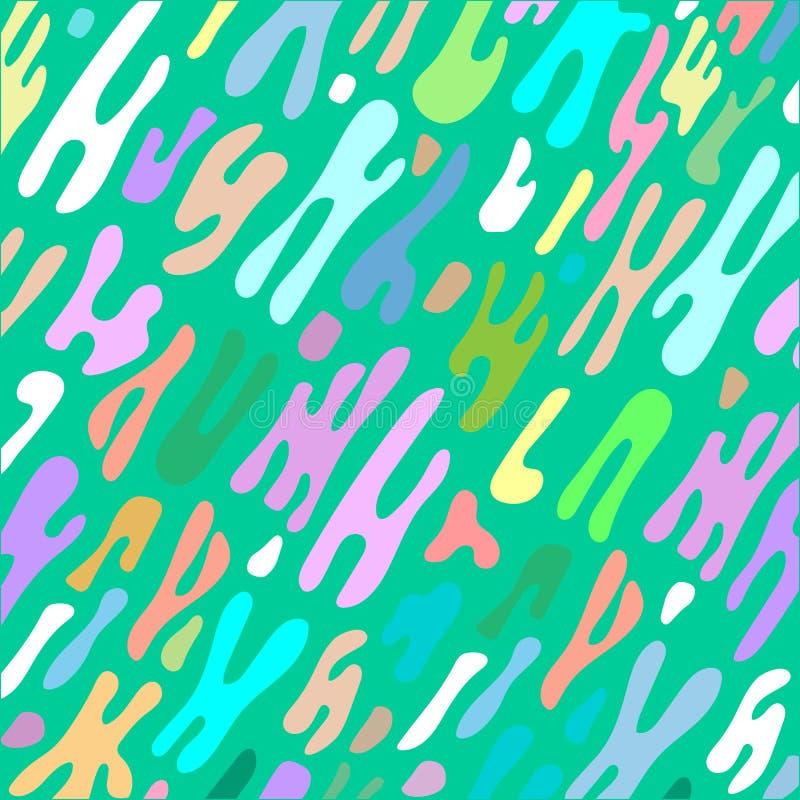 Fundo abstrato colorido do líquido da forma ilustração do vetor