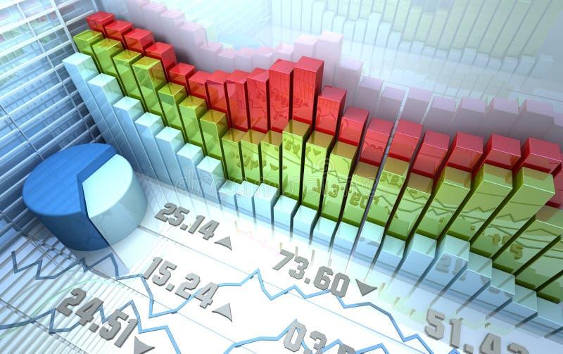 Fundo abstrato colorido do mercado de valores de acção ilustração stock