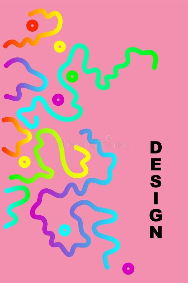 Fundo abstrato colorido do projeto ilustração do vetor