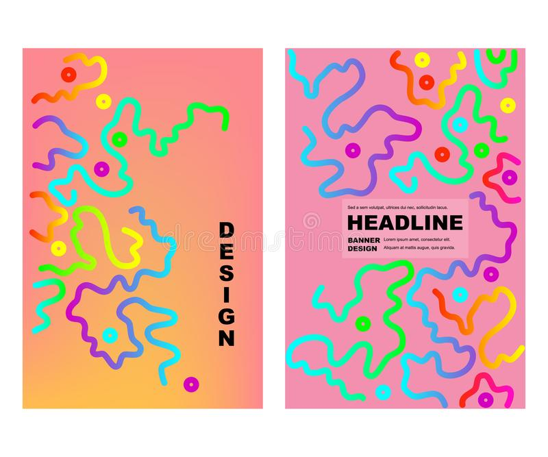 Fundo abstrato colorido do projeto ilustração royalty free
