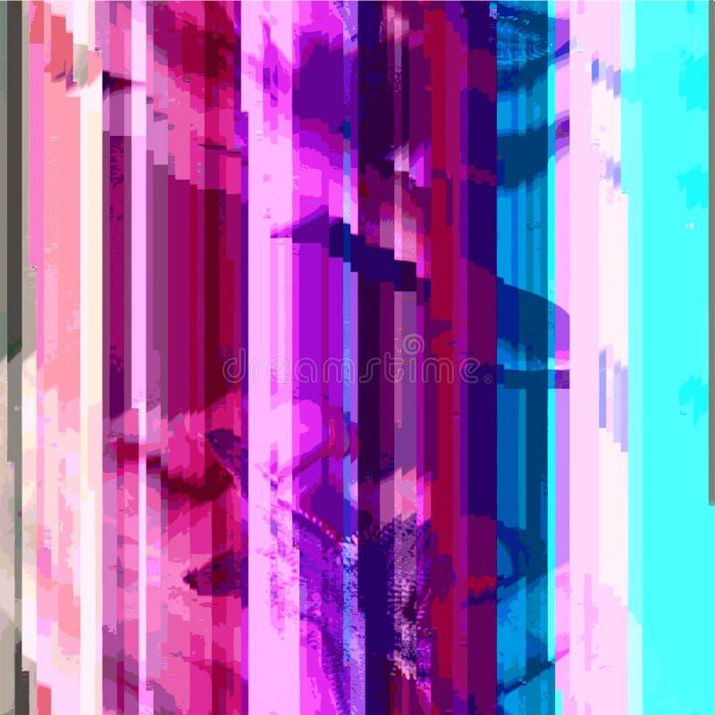 Fundo abstrato colorido do projeto da arte do pulso aleatório ilustração royalty free