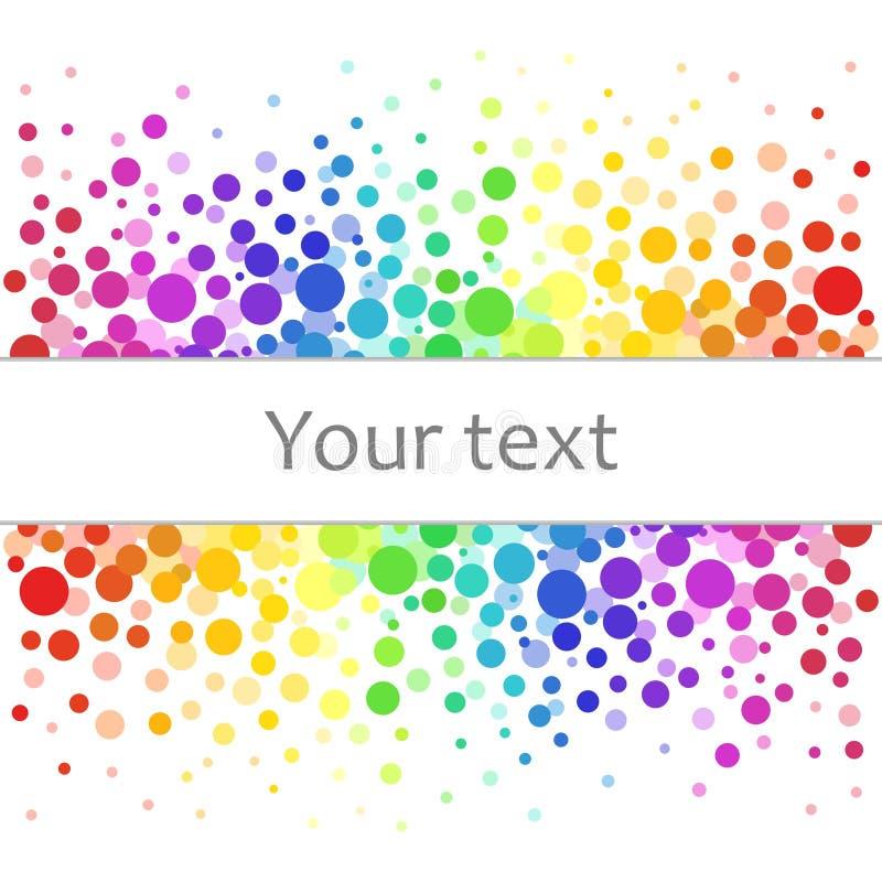 Fundo abstrato colorido dos pontos coloridos, círculos com lugar para seu texto ilustração royalty free