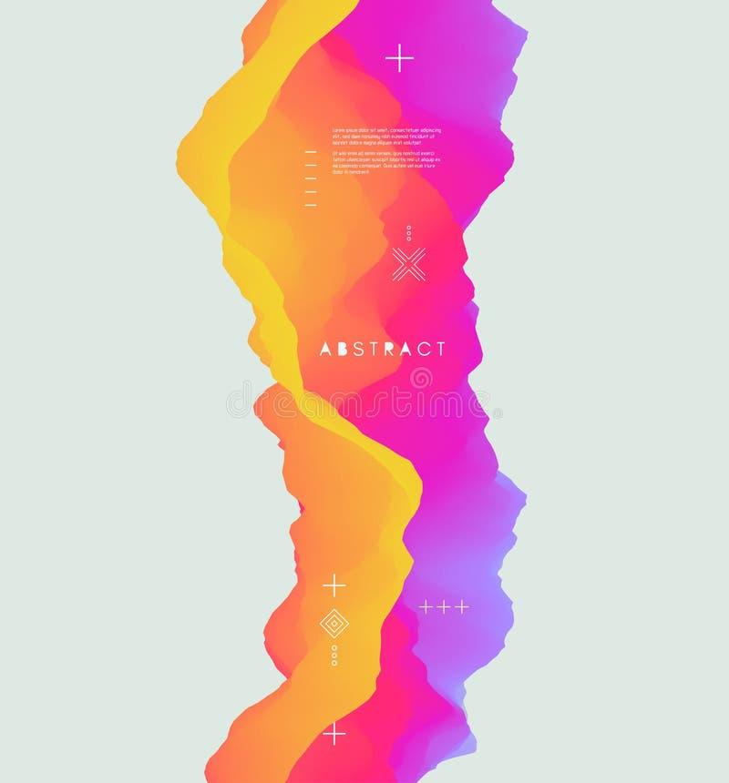 Fundo abstrato colorido Efeito dinâmico Estilo futurista da tecnologia ilustração stock