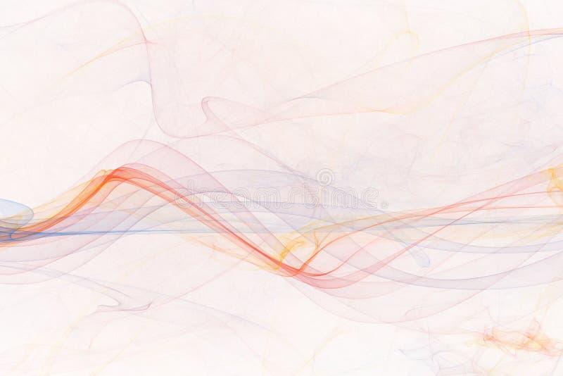 Fundo abstrato colorido macio agradável da onda ilustração stock
