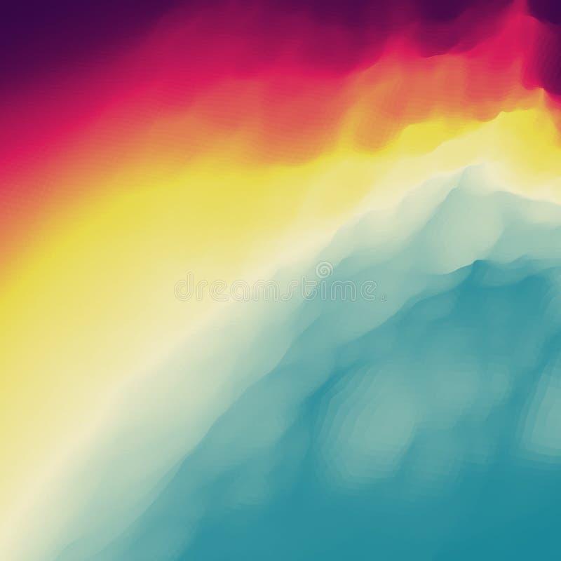 Fundo abstrato colorido Molde do projeto Teste padrão moderno Ilustração do vetor para sua água fresca de design ilustração do vetor