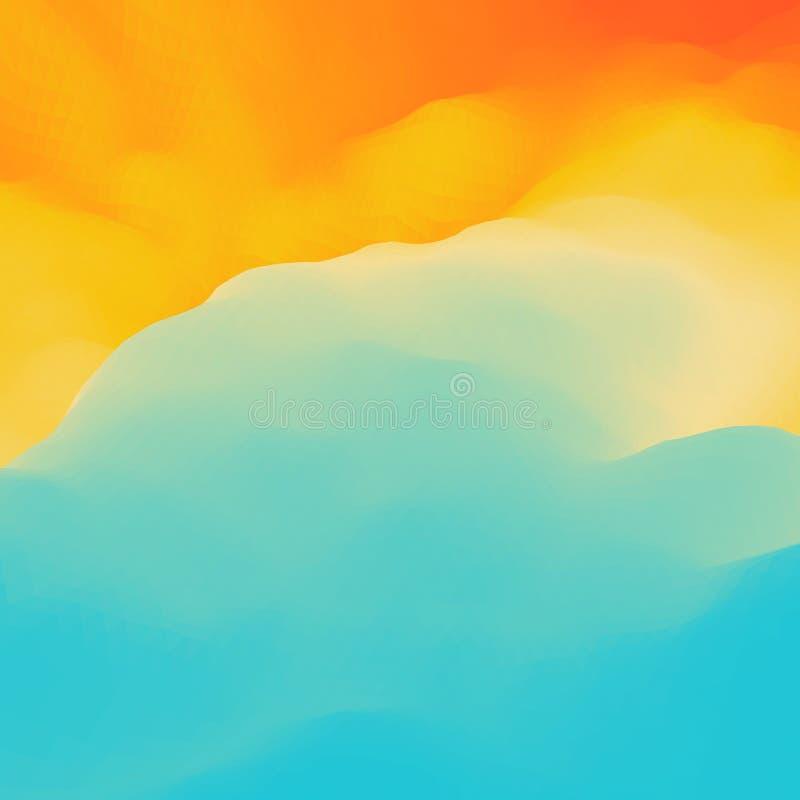 Fundo abstrato colorido Molde do projeto Teste padrão moderno Ilustração do vetor para sua água fresca de design ilustração stock