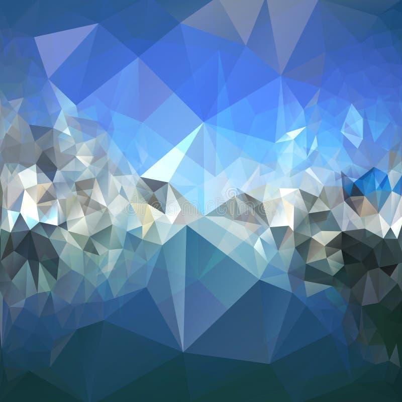 Fundo abstrato colorido Montanhas e mar ilustração stock