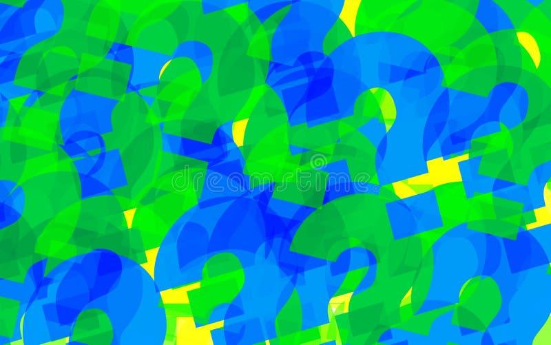 fundo abstrato colorido pontos de interrogação ilustração royalty free