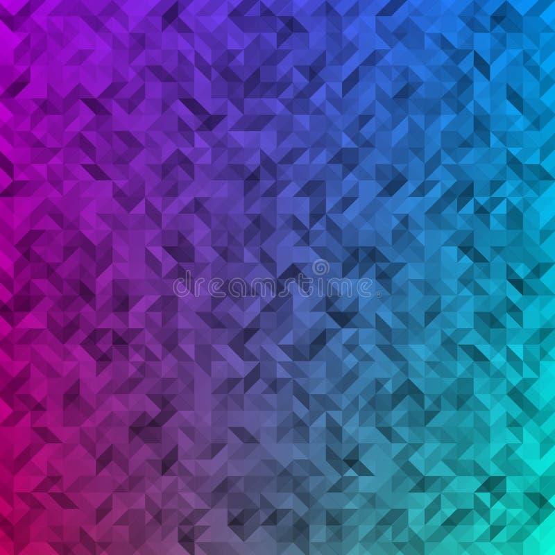 Fundo abstrato colorido triângulos ilustração do vetor