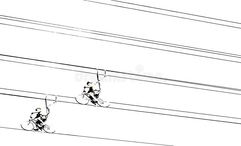 Fundo abstrato com as bicicletas do forro do fecho de correr ilustração stock
