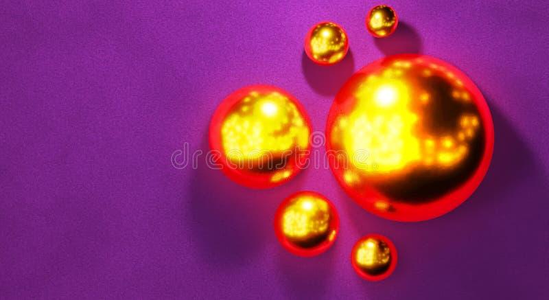 Fundo abstrato com as esferas 3d dinâmicas Bolhas pretas Ilustração do vetor das bolas textured com paillettes de brilho e ilustração do vetor