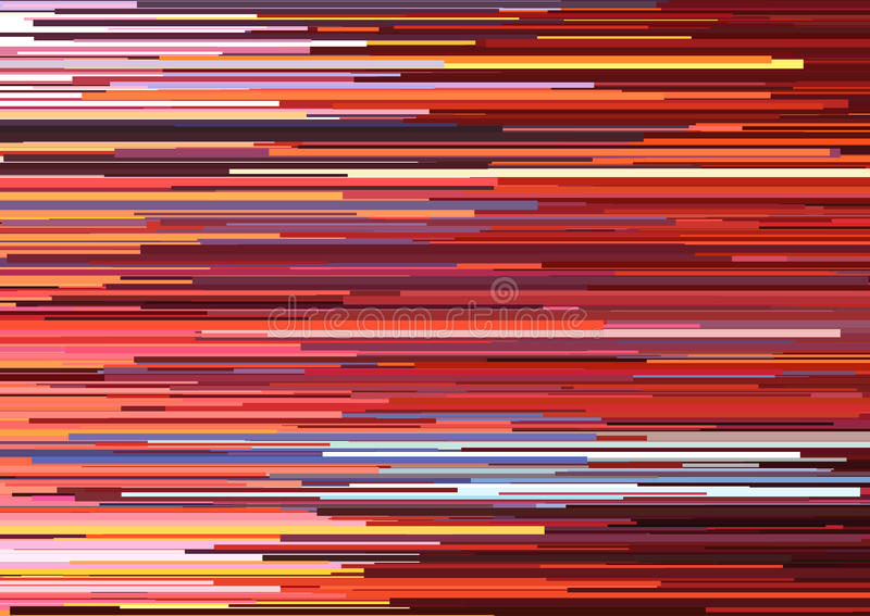 Fundo abstrato com as listras horizontais glitched, linhas de córrego Conceito da estética do erro do sinal ilustração do vetor