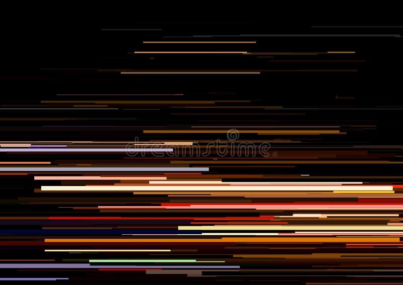 Fundo abstrato com as listras horizontais glitched, linhas de córrego Conceito da estética do erro do sinal ilustração royalty free
