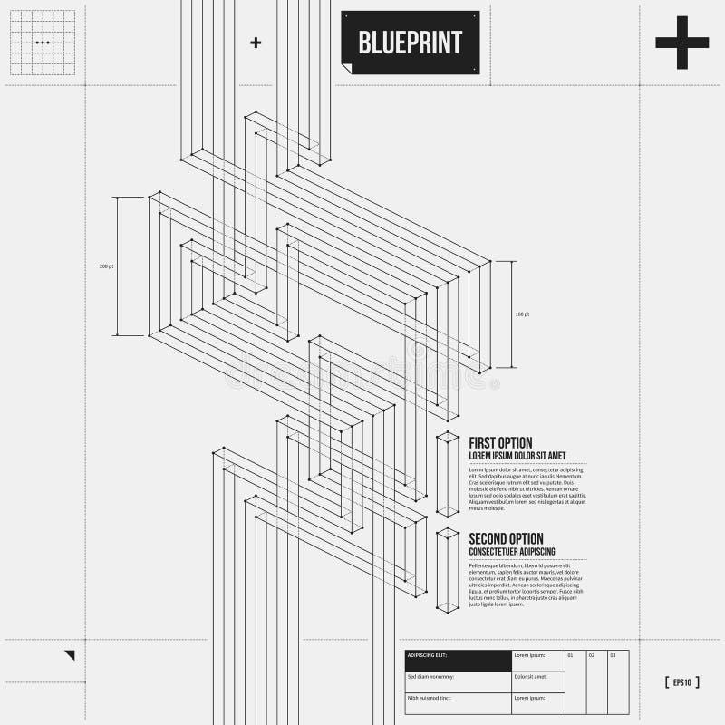 Fundo abstrato com as listras isométricas no estilo do esboço ilustração do vetor
