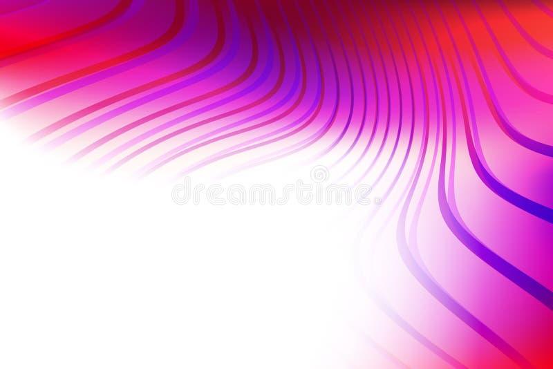 Fundo abstrato com as ondas coloridas translúcidas ilustração royalty free