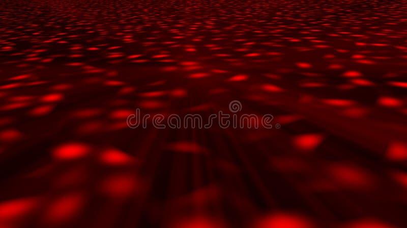 Fundo abstrato com assoalho do disco rendição 3d ilustração royalty free