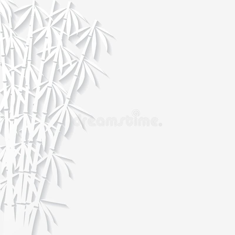 Fundo abstrato com bambu de papel ilustração do vetor