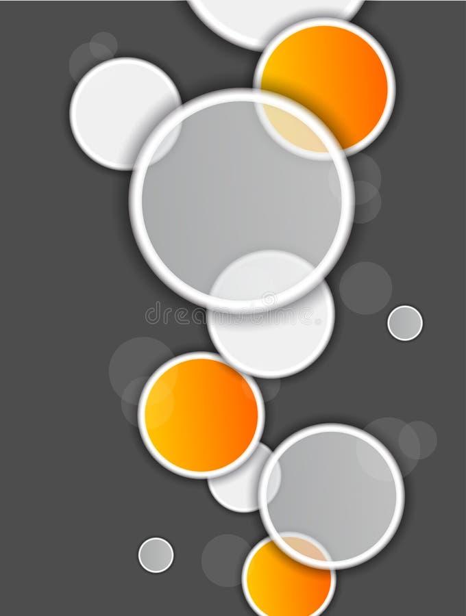 Fundo abstrato com círculos ilustração stock