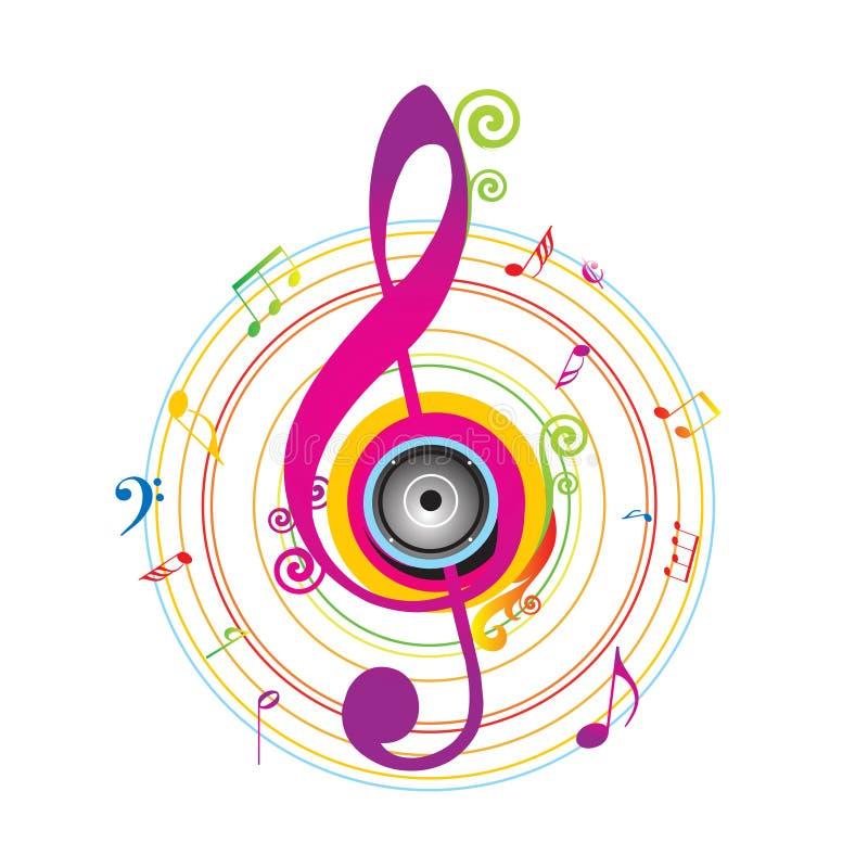 Fundo abstrato com chave do violino ilustração royalty free