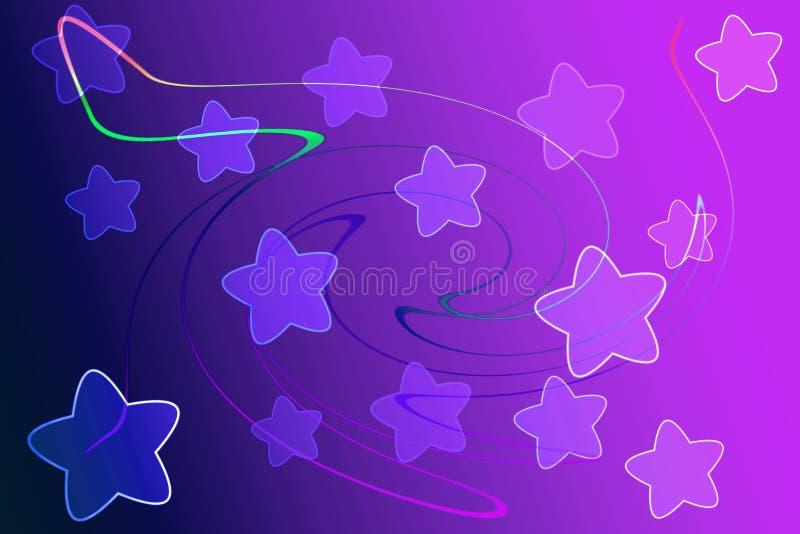 Fundo abstrato com conceito da luz e da estrela foto de stock royalty free