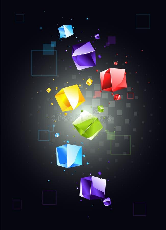 Fundo abstrato com cubos ilustração royalty free