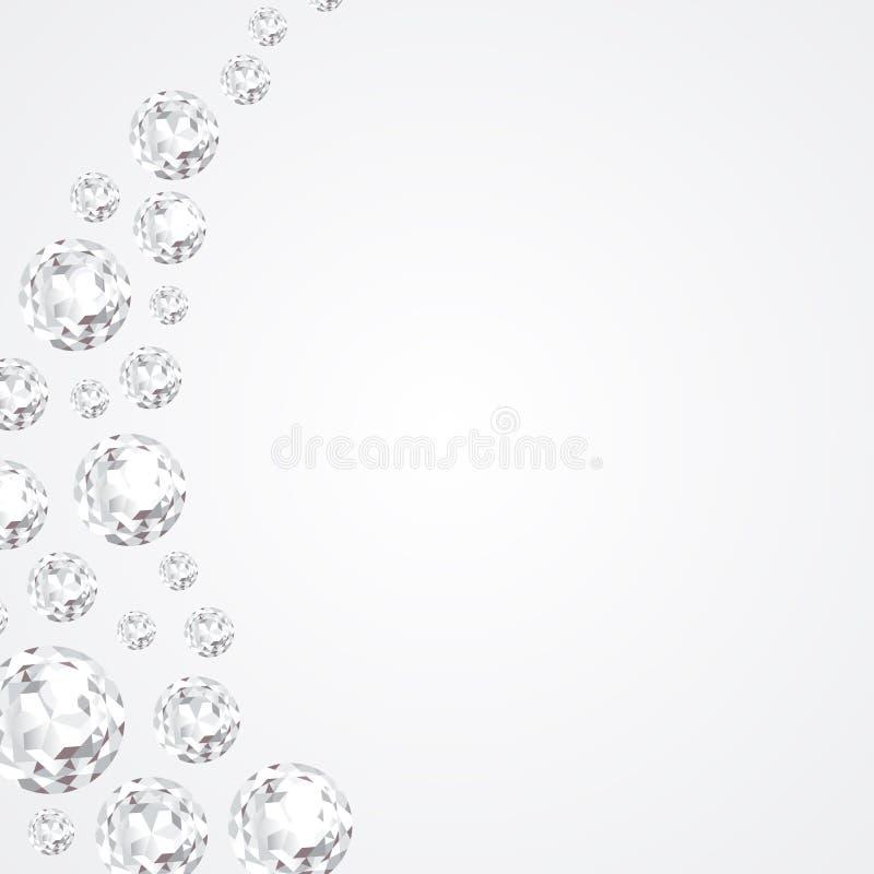 Fundo abstrato com diamantes ilustração royalty free
