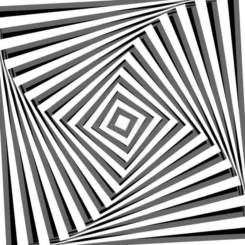 Fundo abstrato com efeito da ilusão ótica. ilustração do vetor