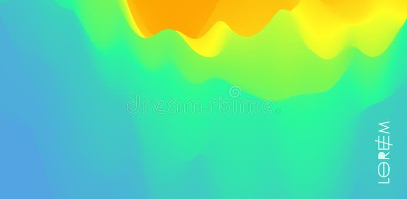 Fundo abstrato com efeito din?mico Cartaz criativo do projeto com inclina??es vibrantes Ilustração do vetor para anunciar, ilustração do vetor