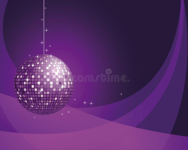 Fundo abstrato com esfera do disco. ilustração stock