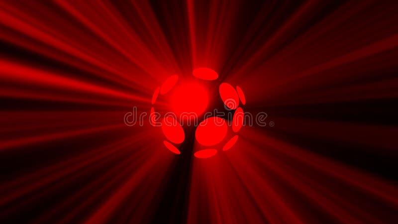 Fundo abstrato com a esfera mágica do disco ilustração stock