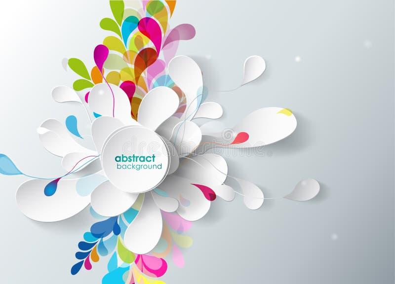 Fundo abstrato com flor de papel. ilustração royalty free