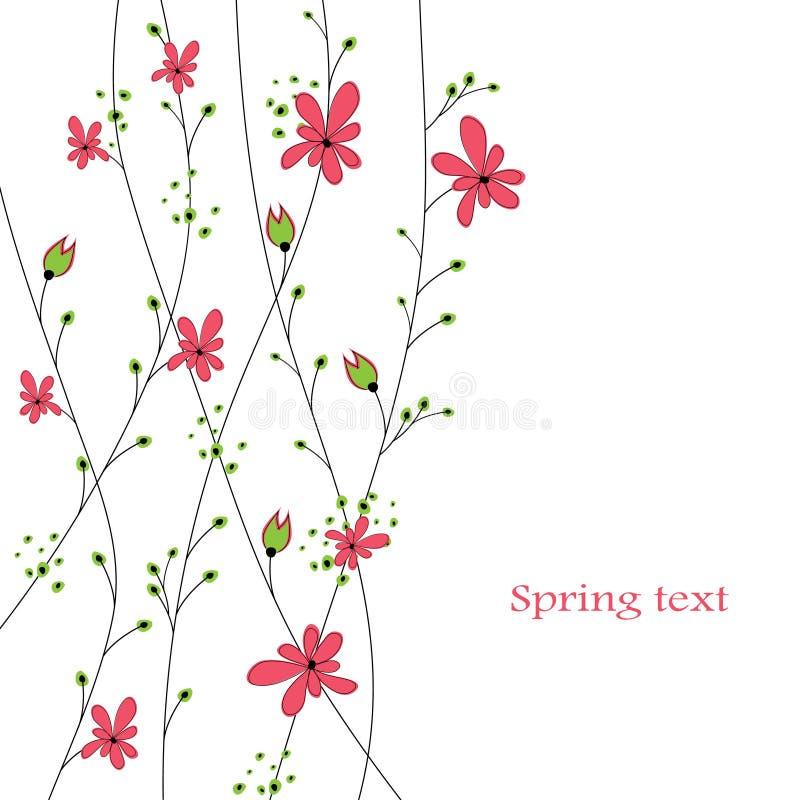 Fundo abstrato com flores vermelhas ilustração stock