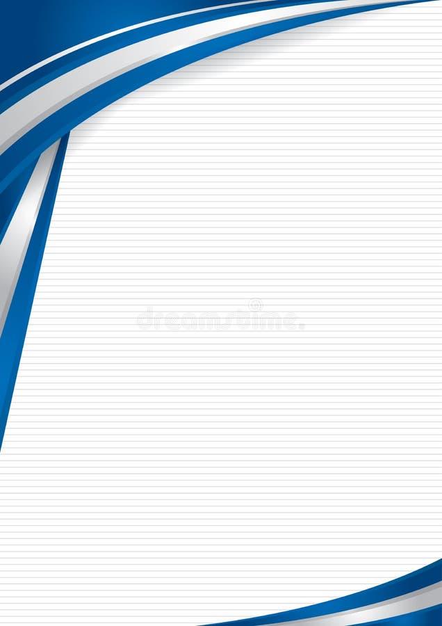 Fundo abstrato com formas com as cores da bandeira de Israel, para usar-se como o diploma ou o certificado Formato A4 ilustração royalty free