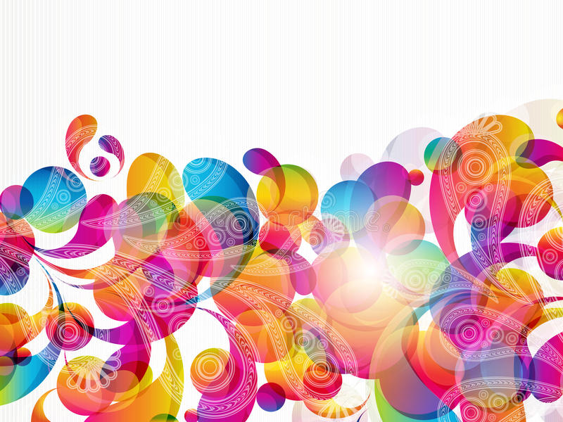 Fundo abstrato com gotas de paisley. ilustração stock