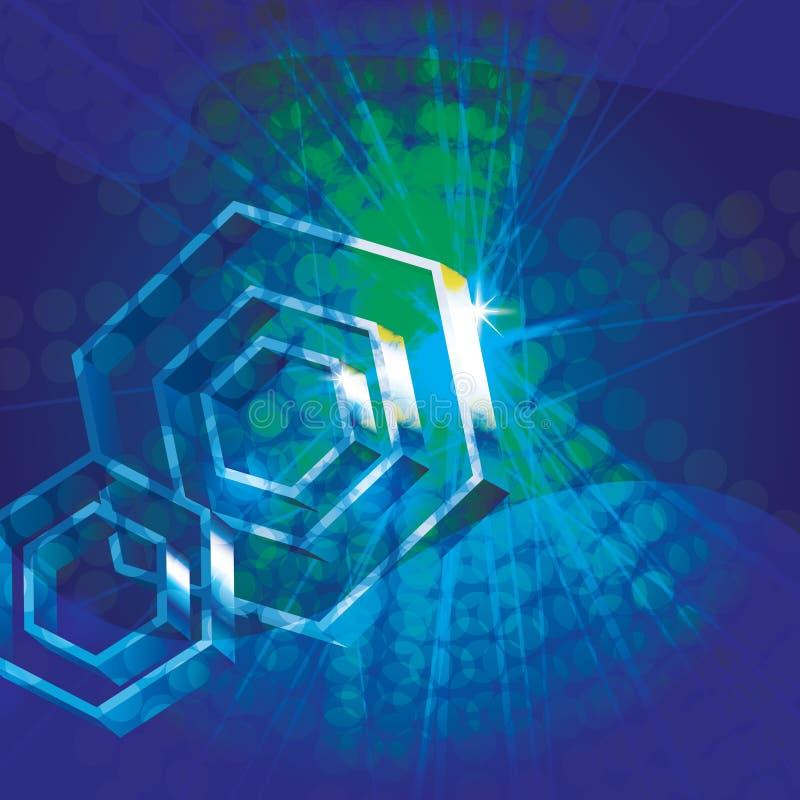 Fundo abstrato com hexágonos 3d ilustração do vetor