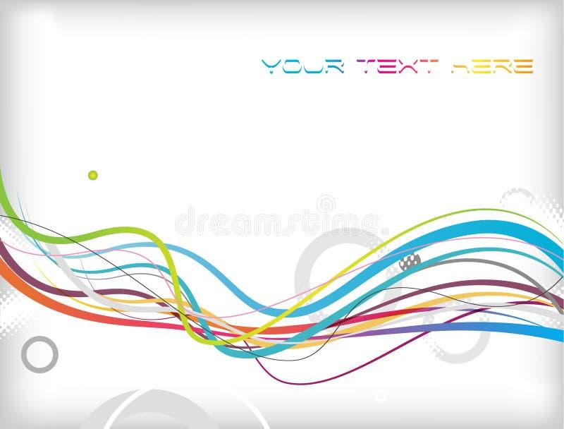 Fundo abstrato com linhas. ilustração stock
