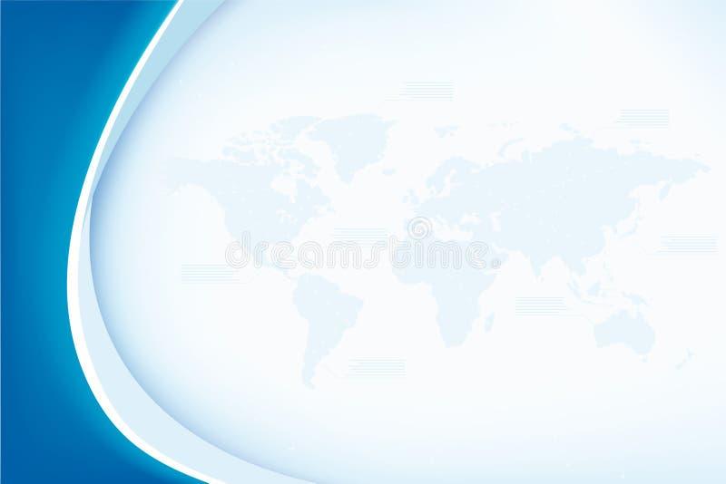 Fundo abstrato com mapa de mundo ilustração royalty free