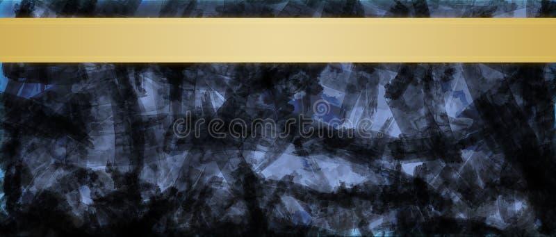 Fundo abstrato com molde do projeto do título das listras da fita do ouro foto de stock
