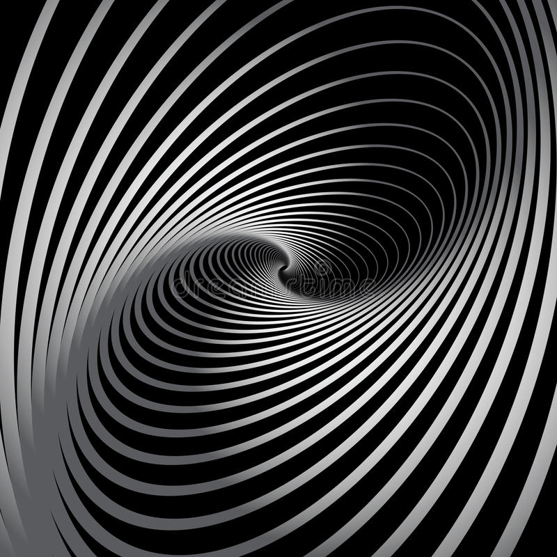 Fundo abstrato com movimento espiral do giro. ilustração royalty free