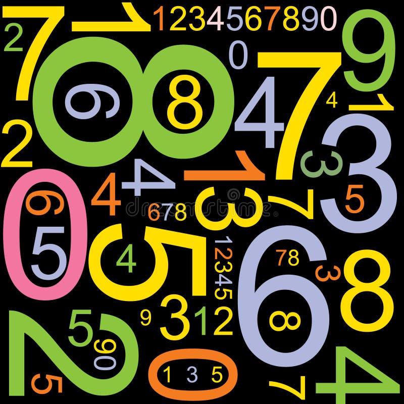 Fundo abstrato com números ilustração do vetor