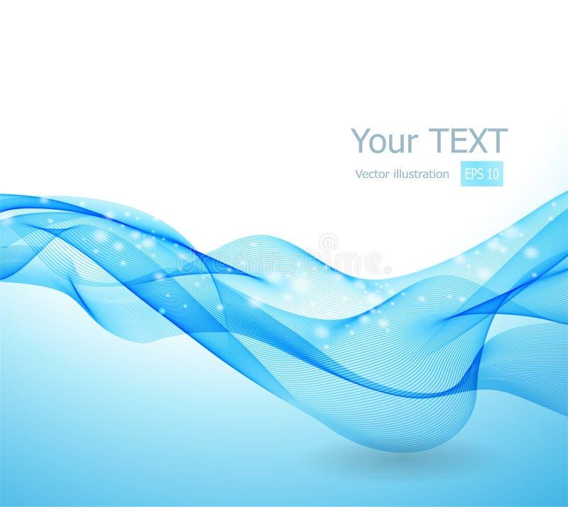 Fundo abstrato com onda azul ilustração royalty free